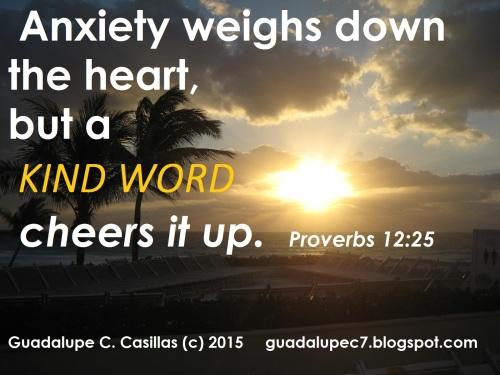 Proverbs 12  25